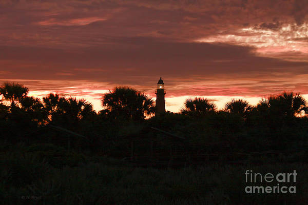 Photograph - Lighthouse Sunset by Deborah Benoit