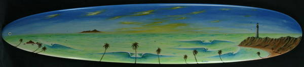 Painting - Lighthouse Surfers Cove by Paul Carter