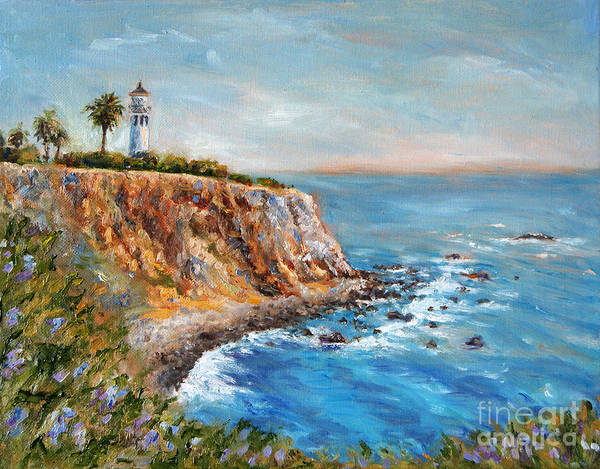 Point Vicente Wall Art - Painting - Lighthouse View by Jennifer Beaudet