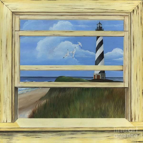 Painting - Lighthouse Window by Rosellen Westerhoff