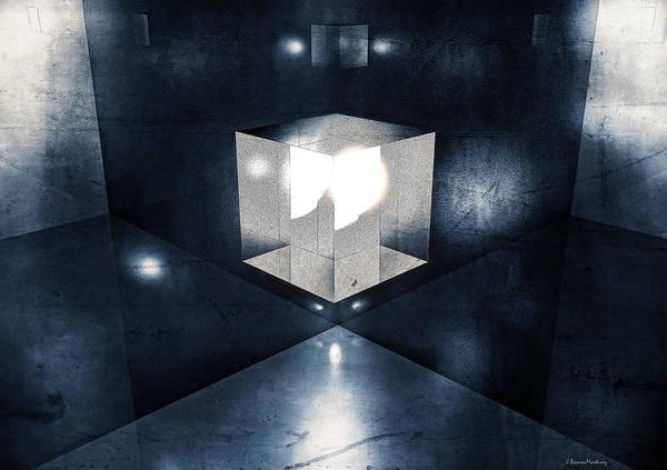 Reflections Digital Art - Lighting In Cube by Ramon Martinez