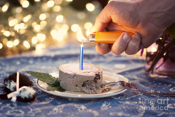 Photograph - Lighting The Birthday Candle by Juli Scalzi