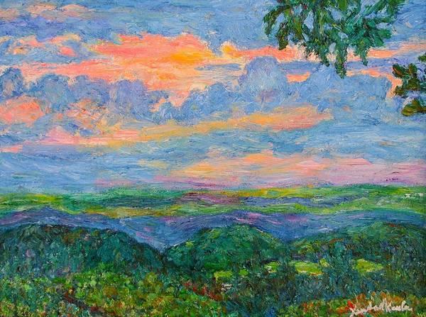 Painting - Lighting The Ridge by Kendall Kessler