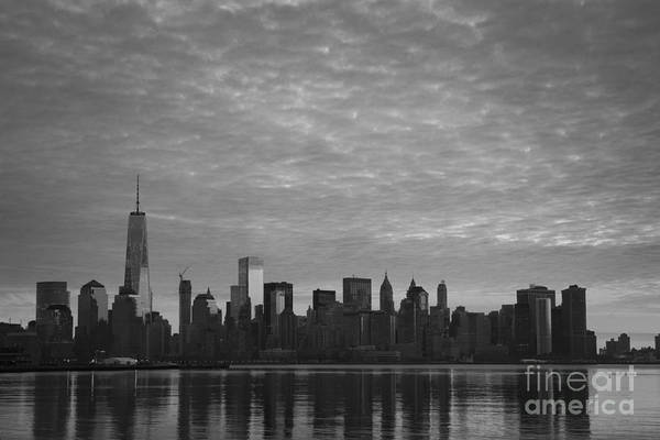 Nine Eleven Photograph - Lighting Up The City Bw by Michael Ver Sprill
