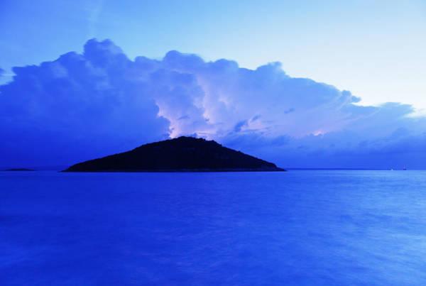 Losinj Photograph - Lightning At Dawn Over Veli And Mali Osir Islands On Losinj by Ian Middleton