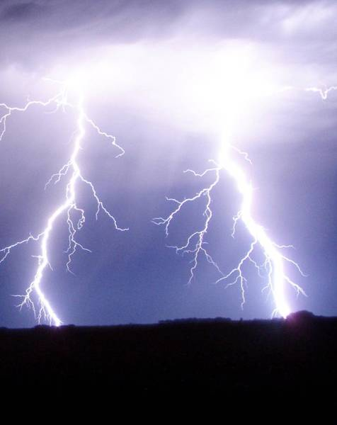 Photograph - Lightning Bolt by James Peterson