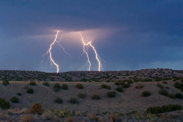 Lightning Dance Over The New Mexico Desert Art Print