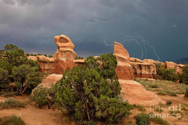 Photograph - Lightning Devils Garden Escalante Grand Staircase Nm Utah by Dave Welling