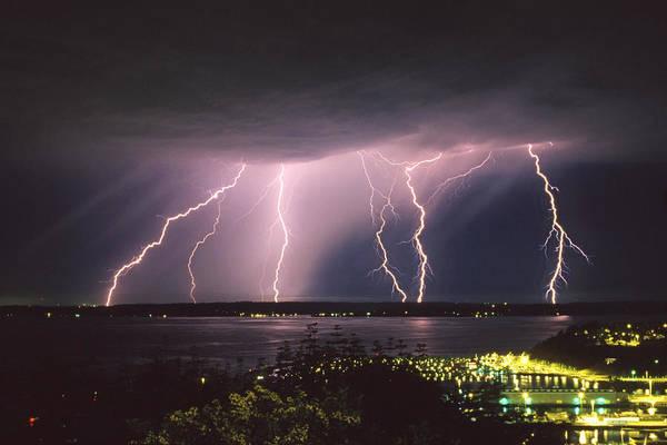Lightning Wall Art - Photograph - Lightning by King Wu