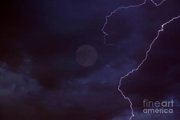 Fruita Photograph - Lightning Moon by Bob Hislop