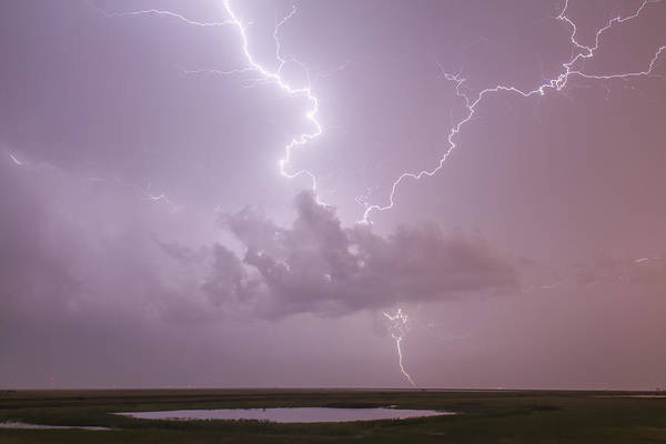 Lightning Over Cheyenne Bottoms Art Print
