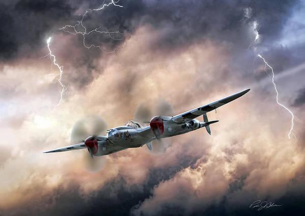 Wall Art - Digital Art - Lightning Race by Peter Chilelli