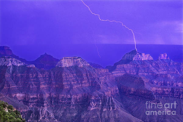 Photograph - Lightning Storm North Rim Grand Canyon National Park Arizona by Dave Welling