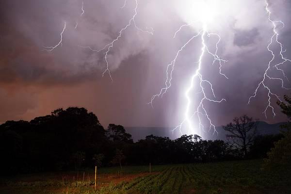 Lightning Strike Photograph - Lightning Strike by Olivier Vandeginste