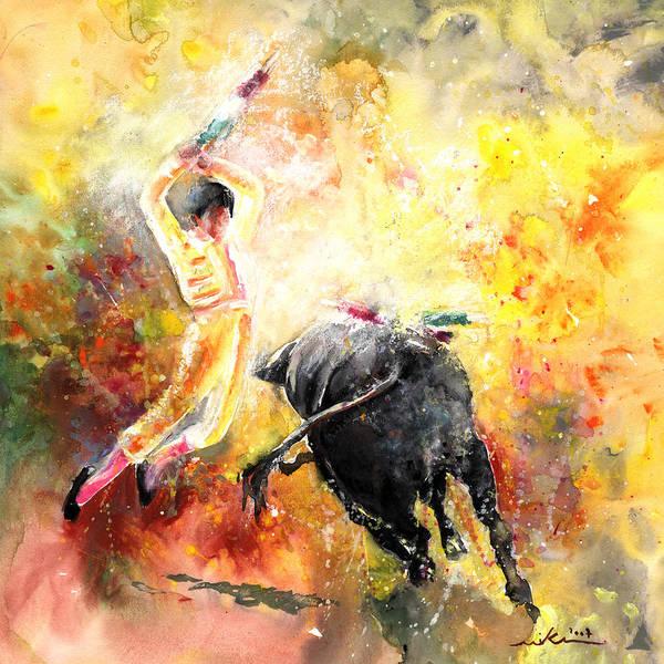 Toros Painting - Lightning Strikes by Miki De Goodaboom