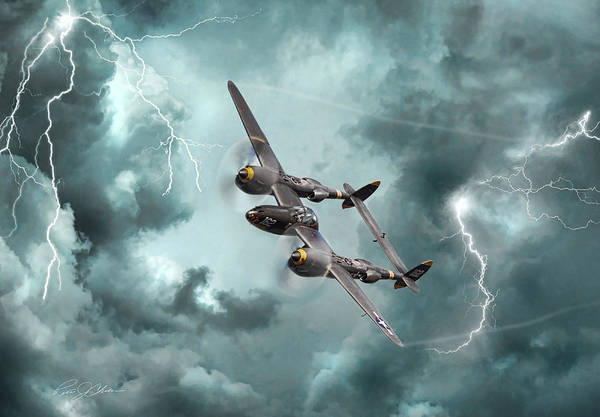 Wall Art - Digital Art - Lightning Strikes by Peter Chilelli