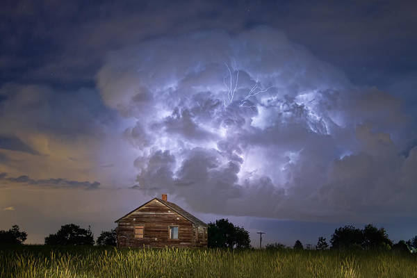 Wall Art - Photograph - Lightning Thunderstorm Busting Out by James BO Insogna