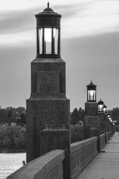 Lights Along The Columbia-wrightsville Bridge In Pennsylvania Art Print