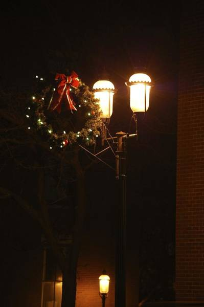 Photograph - Lights Lowell Ma At Christmas IIi by Mary McAvoy