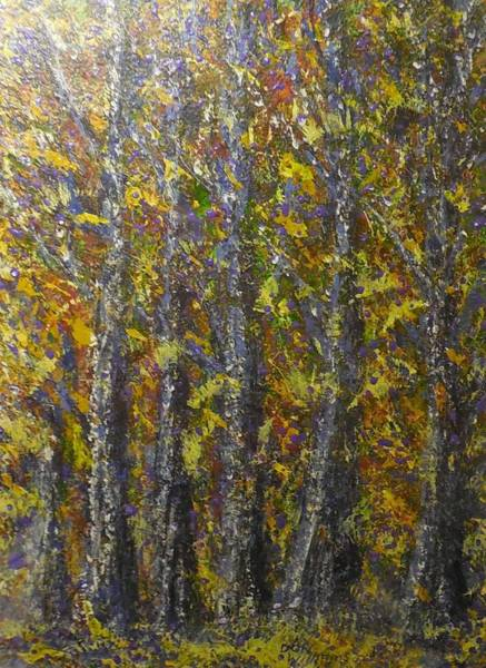 Don Williams Painting - Lights Of Fall  Abstract by Don Williams