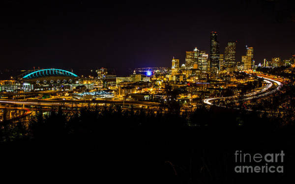 Photograph - Lights Of Seattle by Rod Best