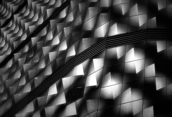 German Photograph - Lights On Facade Peeks by Hans-wolfgang Hawerkamp