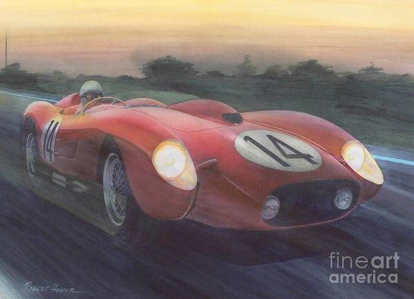 Lemans Wall Art - Painting - Lights On by Robert Hooper