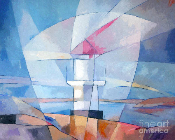 Painting - Lightscape At Sea by Lutz Baar