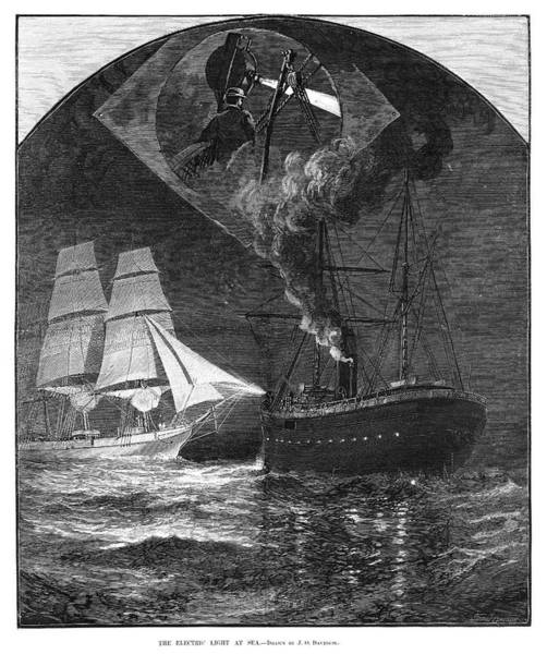Painting - Lightship, 1881 by Granger