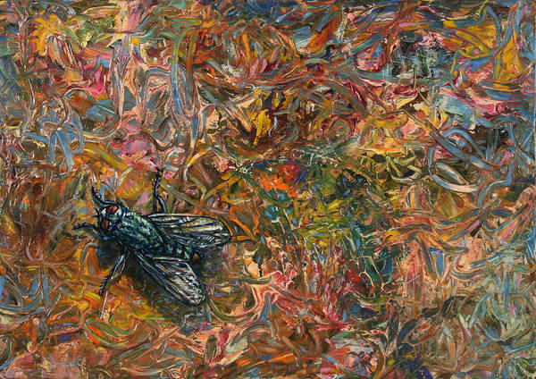 Wall Art - Painting - Like A Fly On Paint by James W Johnson