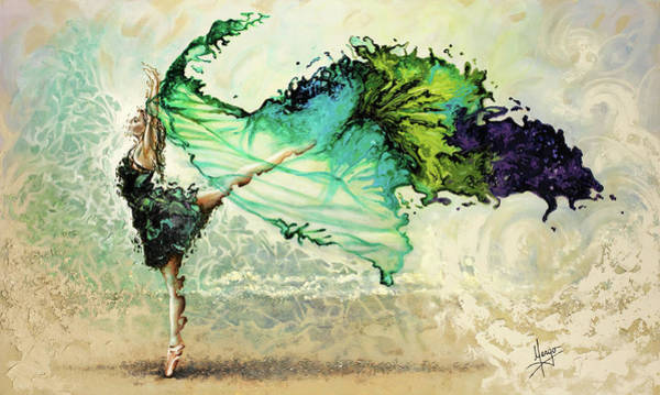 Dancing Painting - Like Air I Will Raise by Karina Llergo