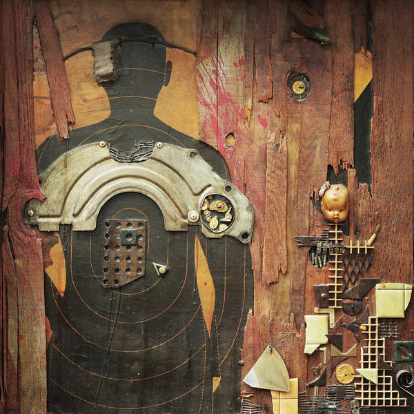 Target Practice Mixed Media - Like Father Like Son  C1986 C2013 by Paul Ashby