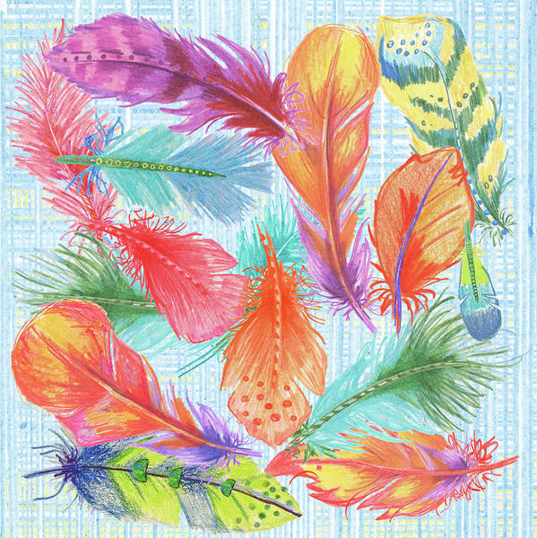 Wall Art - Painting - Lil Bird Feathers by Anita Phillips