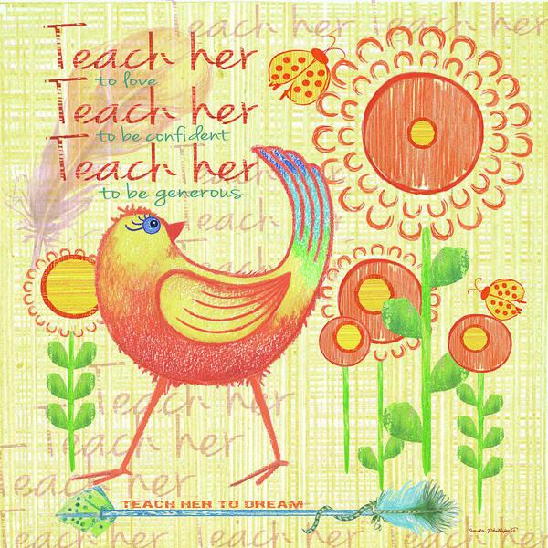 Wall Art - Painting - Lil Bird I by Anita Phillips
