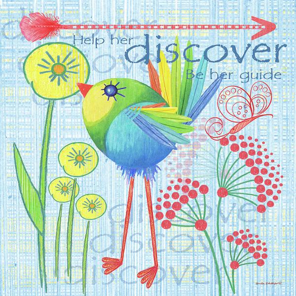 Wall Art - Painting - Lil Bird IIi by Anita Phillips
