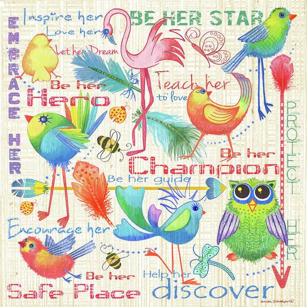 Wall Art - Painting - Lil Bird Sampler by Anita Phillips