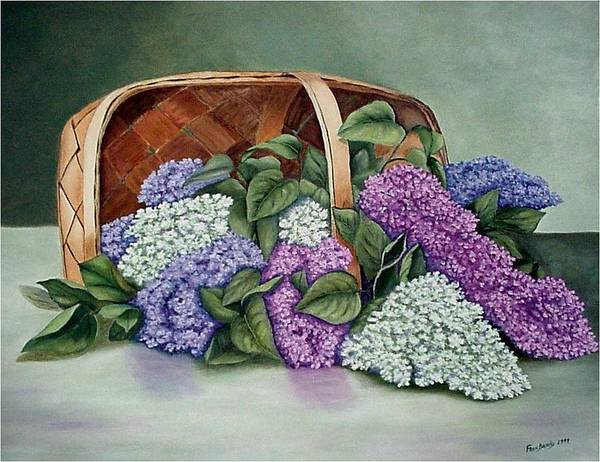 Painting - Lilac Basket by Fran Brooks