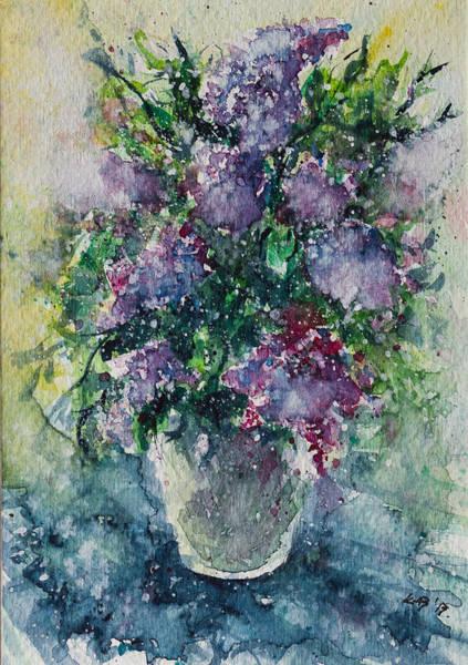 Lilac Painting - Lilac by Kovacs Anna Brigitta