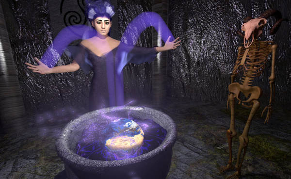 Fairy Pools Digital Art - Lilac Sorceress Earth Healing by Brainwave Pictures