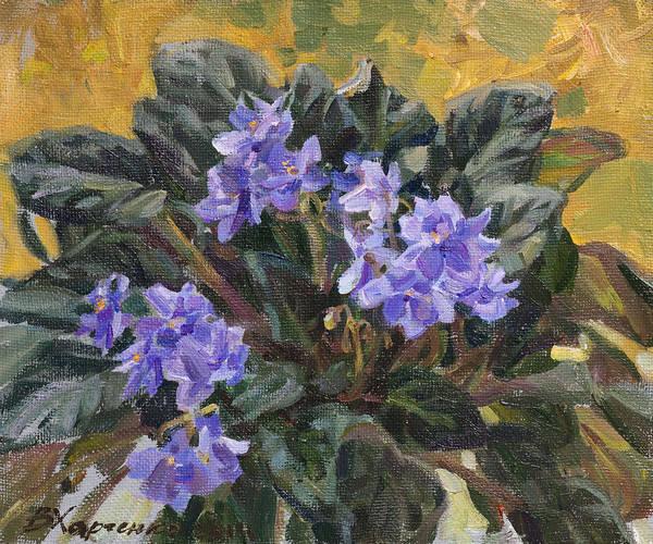 Violet Painting - Lilac Violet by Victoria Kharchenko