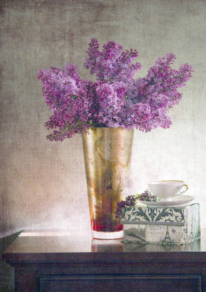 Wall Art - Photograph - Lilacs In Vase 2 by Rebecca Cozart