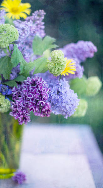 Lilac Photograph - Lilacs On The Table by Rebecca Cozart