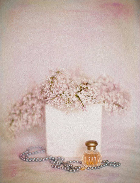 Perfume Photograph - Lilacs Pearls And Perfume by Rebecca Cozart