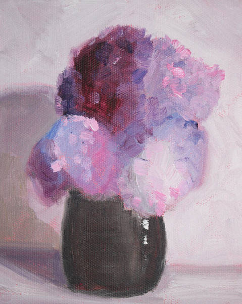 Wall Art - Painting - Lilacs Still Life Floral Painting by Nancy Merkle