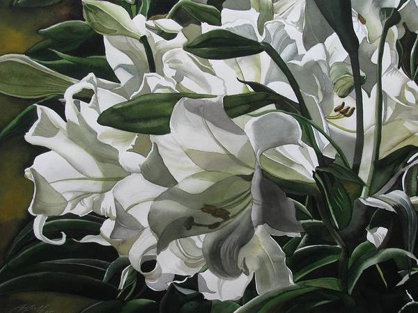 Painting - lilies for Easter by Alfred Ng