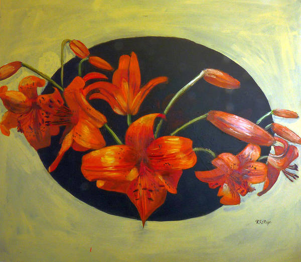 Painting - Lilies More by Richard Le Page
