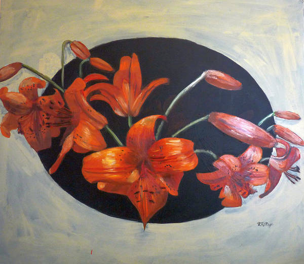 Painting - Lilies by Richard Le Page
