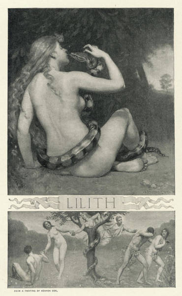 Wall Art - Drawing - Lilith, Night Vampire Probably by Mary Evans Picture Library