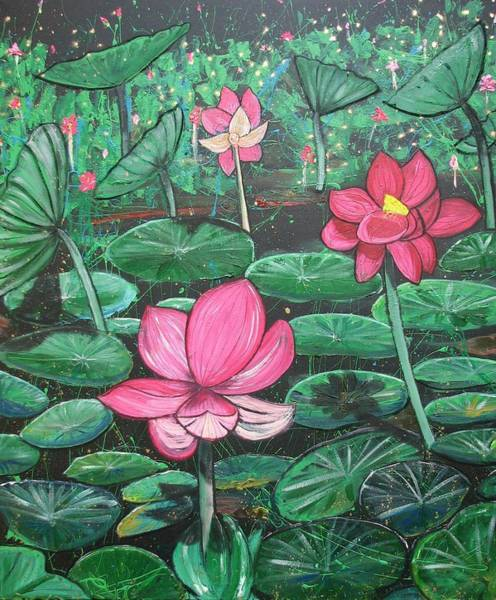 Painting - Lilies by Joan Stratton
