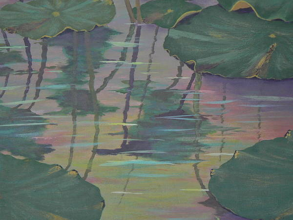 Lily Pad Reflections Art Print